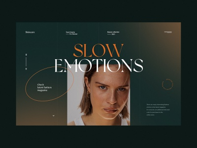 Slow Emotions - Website concept web minimalist beauty women creams fashion skincare webdesign web design concept website ux ui