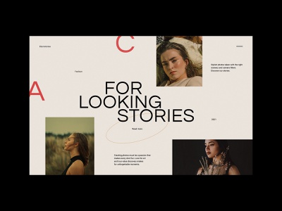 Looking Stories - Fashion Website concept fashion design glamour modern skincare gallery fashion web design minimalist webdesign web design website ux ui