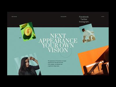 Blumstories V2 - Website Concept blogger grid photo colour blog stories design minimalist webdesign web design concept website ux ui