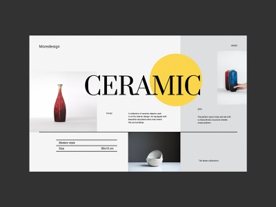 Ceramic Portfolio - Website Concept ceramics vase glamour portfolio ceramic concept minimalist design webdesign web design website ux ui