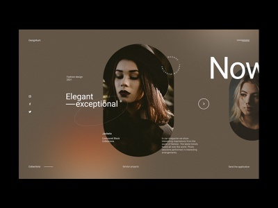 Fashion Magazine - Website Concept minimalist design collections clothes dark magazine fashion webdesign web design concept website ux ui