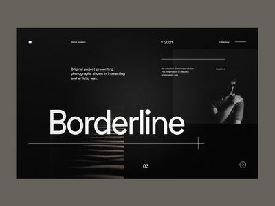 Borderline - Dark Website concept dark ui website design web dark minimalist design webdesign web design concept website ux ui