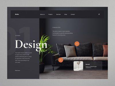 Design Interior - Website concept furniture design architecture interiors sofa interior design furniture interior design minimalist webdesign web design concept website ux ui