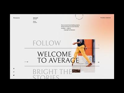 Morezone Portfolio - Website concept portfolio design mouse effect hover portfolio design minimalist webdesign web design concept website ux ui