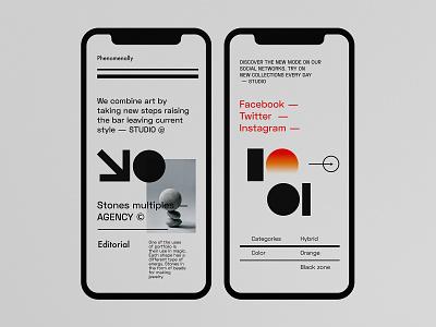 Agency - Typography App Concept mobile ui ux mobile ui kit mobile uiux mobile ui design mobile design application app design mobile app design typography mobile ui mobile app app mobile design minimalist concept ux ui