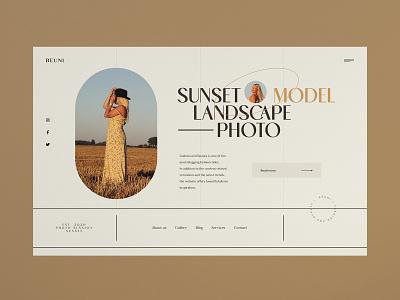 Beuni - Website concept modern grid portfolio gallery photo sunset beauty blog fashion minimalist design web design concept website ux ui
