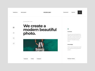 Blog Photo - Website concept world news article articles gallery drone blog web design concept website ux ui minimalist design