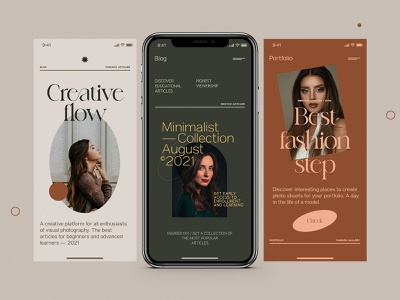 Mobile Fashion and Stories Layout uidesign app web design minimalist website concept mobile stories layout ux ui design