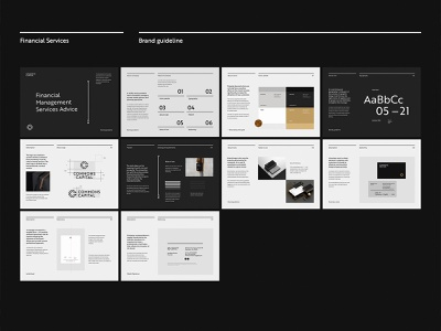 Brand guideline for Commons Capital book financial symbol emblem minimalist graphic design design logotype guideline brand logo branding