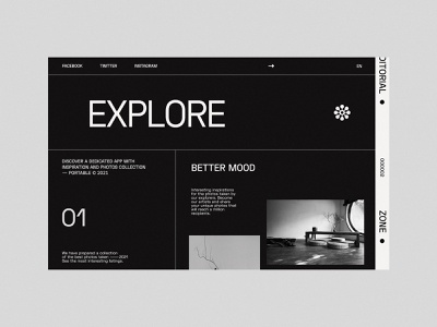 Explore - Website concept uiux designer webdesign black concept modern web design minimalist design website ux ui