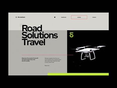 Droneblum - Website concept airplane black modern aircraft drones drone airplane web design concept website ux ui minimalist design