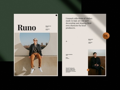 Website materials for Clothes shop uidesign fashion clothes modern typography print material poster branding web design concept website ui minimalist design