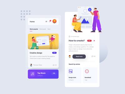 Blog Mobile Concept