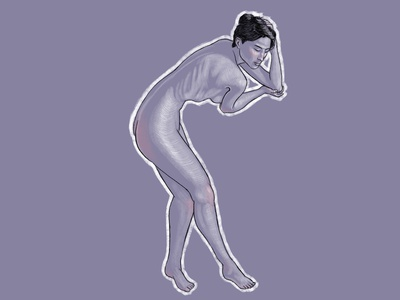 Nude sketches #04 naked illustration woman poses girl nude anatomy digitalart drawing