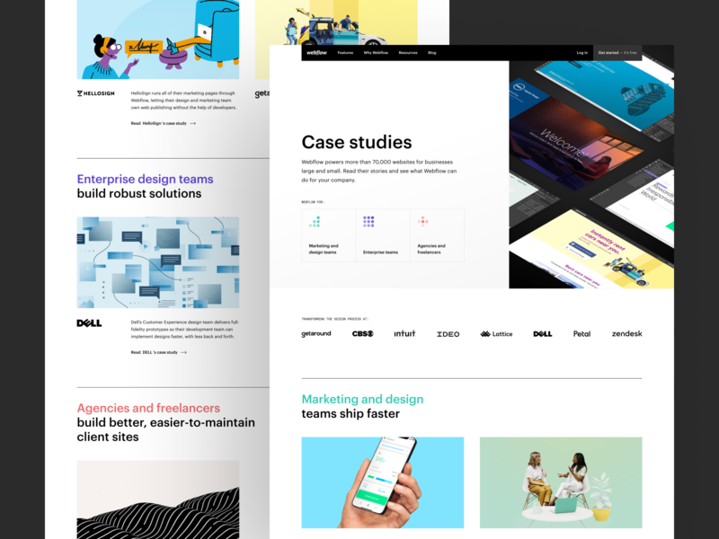 Webflow Customers — Design customers icon case study clean web design webflow