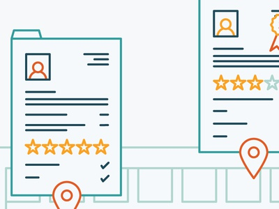 Illustration #1 review resume profile minimal simple vector flat linear icon line illustration