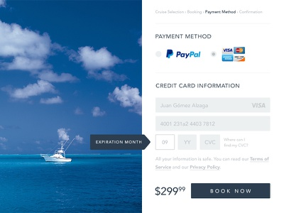 Day 2 —Credit Card Checkout credit card ux ui checkout form dailyui minimal 002 clean crisp