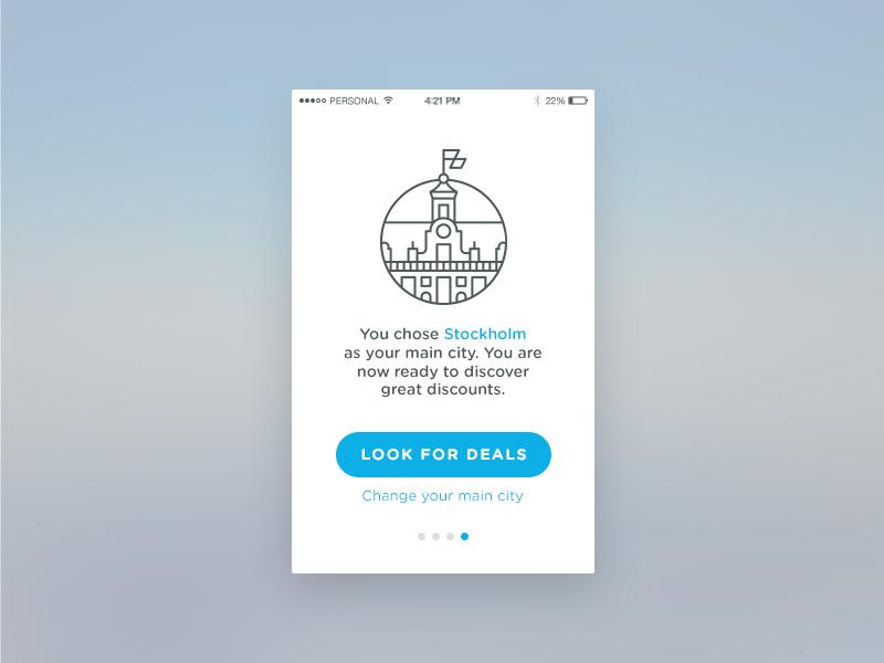 Day 23 — Onboarding onboarding ux ui dailyui 023 app minimal