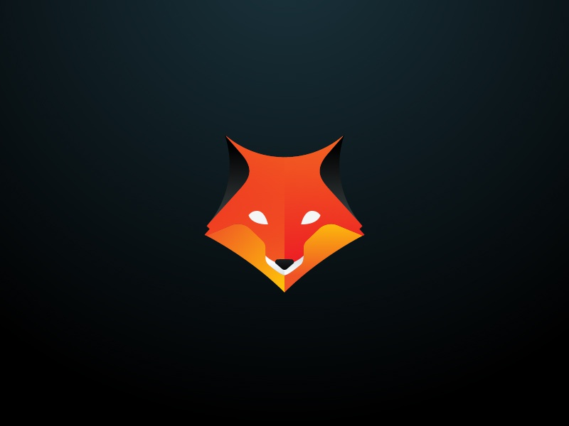 Foxes Store® foxes fox orange gradient shiny minimal branding logo