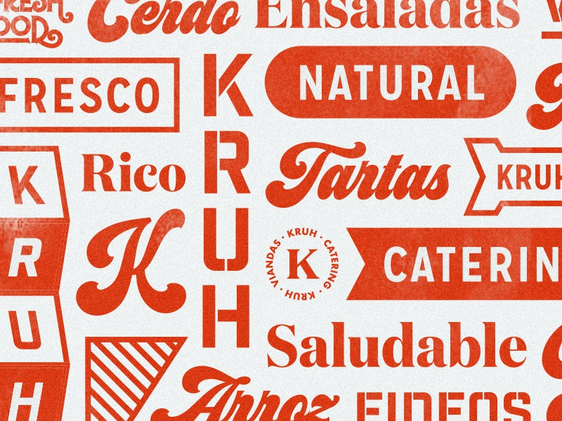 Composition branding food meals red type pattern kruh composition