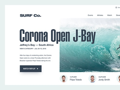 Surf Competition Opening