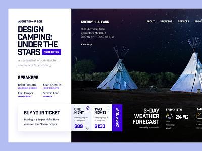 Design Camping 2018 grid minimal event design camping conference ux ui