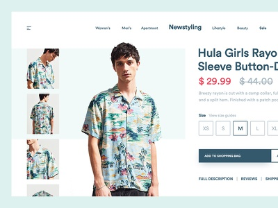 Simple Clothing Concept web design ux ui clean circular clothing minimal layout grid golden canon grid