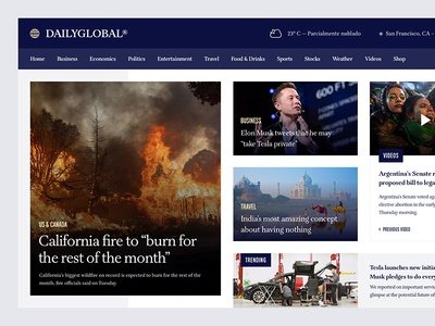 DAILYGLOBAL News Website