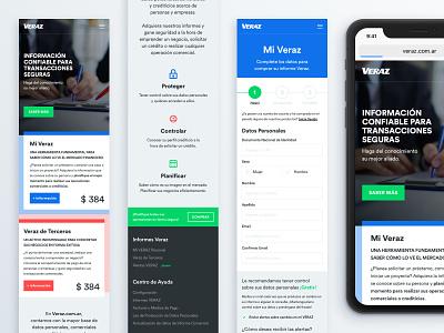 Veraz Redesign Concept clean veraz argentina mobile web design ux ui minimal debt