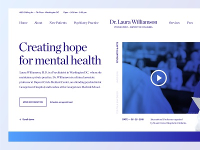 Psychiatrist Personal Website layout golden canon grid clean modern minimal web design ux ui