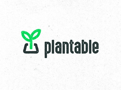 Plantable® Brand grain logo packaging sustainability ecofriendly texture branding plantable