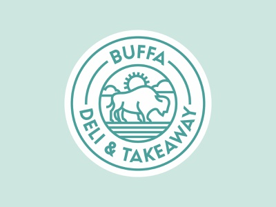 BUFFA · Deli & Takeaway simple buffalo stroke illustration takeaway deli restaurant coffee minimal