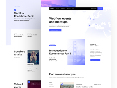 Webflow Events — Design