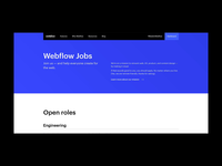 Webflow Jobs — Design