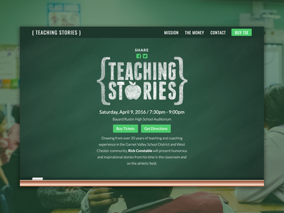 Teaching Stories Website charity responsive logo web design