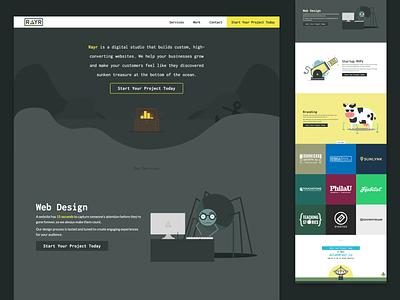 RAYR Landing Page ui branding vue landing page web design