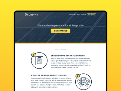 Solar Website landing page responsive solar wordpress ux ui web design