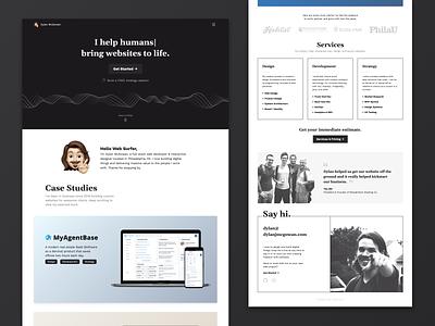 Personal Website Landing Page tailwindcss vue.js p5.js gsap responsive memoji personal branding web design portfolio landing page