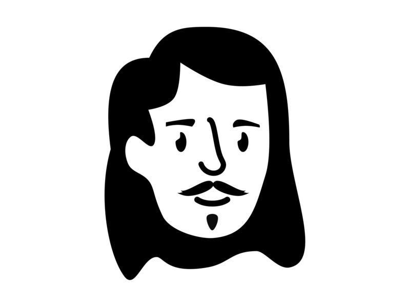 Notion Avatar illustration black and white icon avatar notion