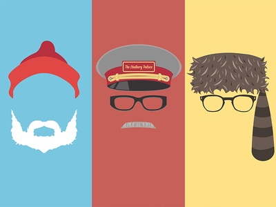 The Wes Anderson Collection flat minimal illustration dvd wes anderson
