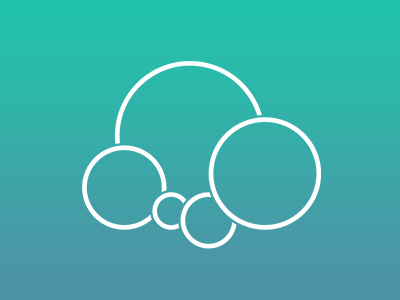 My personal logo material design logo flower cloud