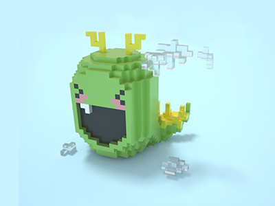 Dragon Dribbble cloud model 3d magicavoxel dragon