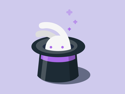 Bunny in a Top Hat magic rabbit hat top hat bunny