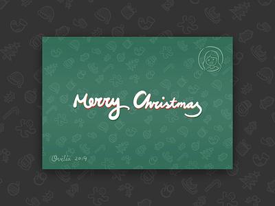 2019 Christmas Postcard texture postcard christmas