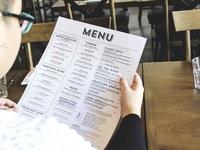Cafe-Restaurant Ho Chi Minh City menu design