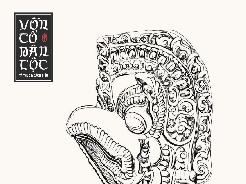 Hoa văn Vốn cổ dân tộc – Vẽ tả thực & cách điệu illustrator drawing ink vietnamese traditional art typography cultural illustration
