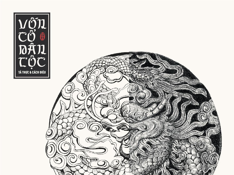 Hoa văn Vốn cổ dân tộc – Vẽ tả thực & cách điệu illustration cultural typography drawing ink vietnamese traditional art illustration art illutrator