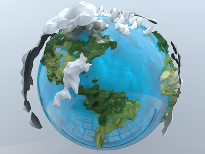 Mundo mundo earth planet 3d reflection keyword