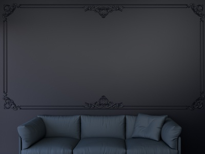 Dark Wall and Sofa