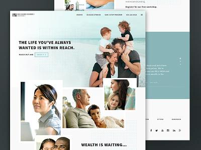 Homepage WIP photo gallery marketing layout web design landing page homepage